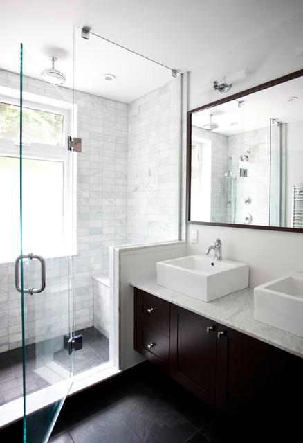 Beautiful Classic Contemporary Washroom transitional-bathroom classic contemporary bathrooms