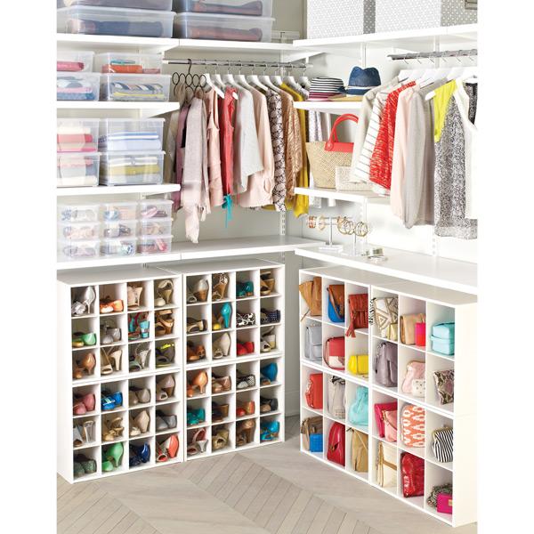Modern 12-Pair Shoe Organizer; u0026 ... closet shoe organizer
