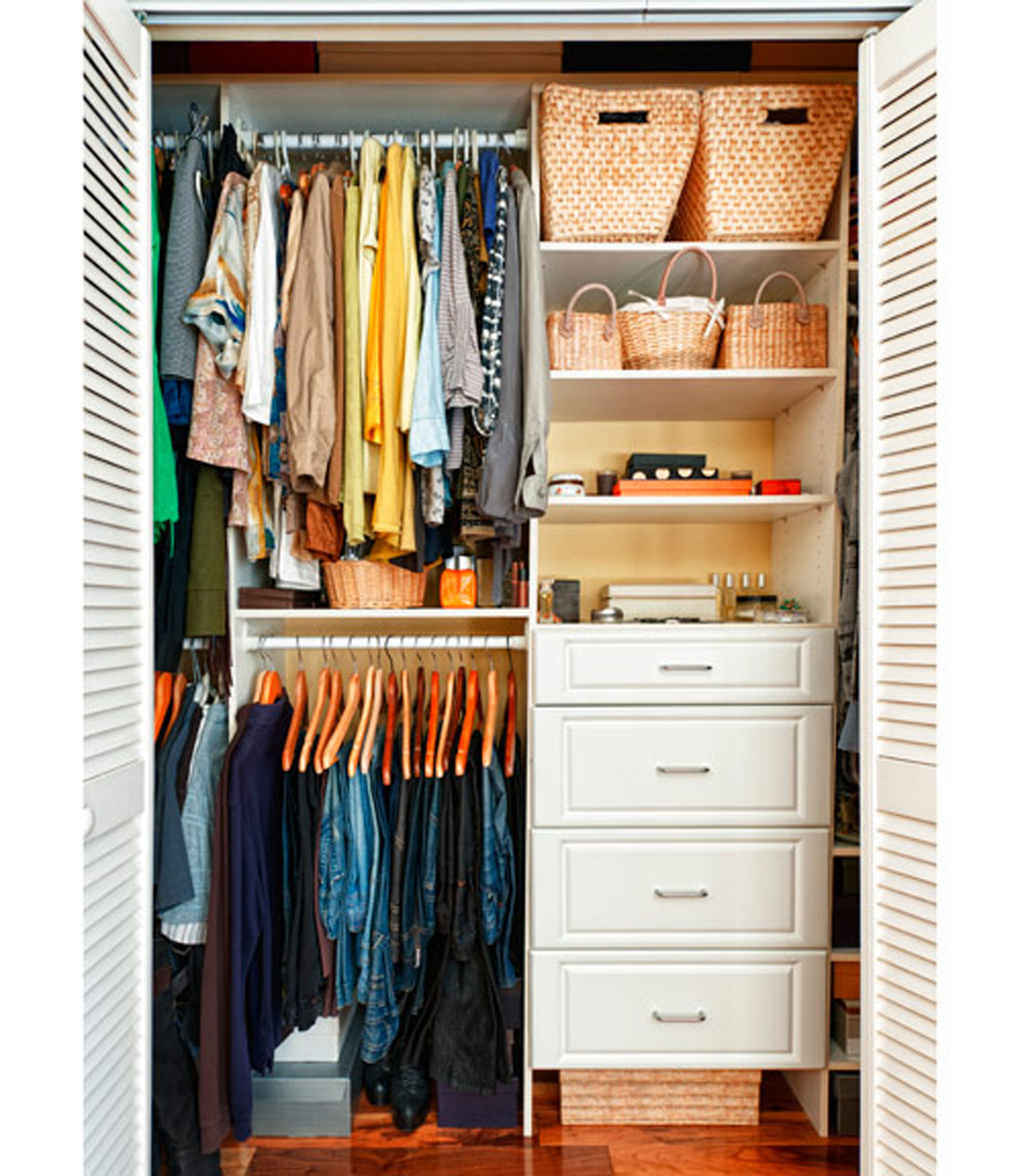 Solutions for closet solutions and organization for Tiny apartment storage ideas