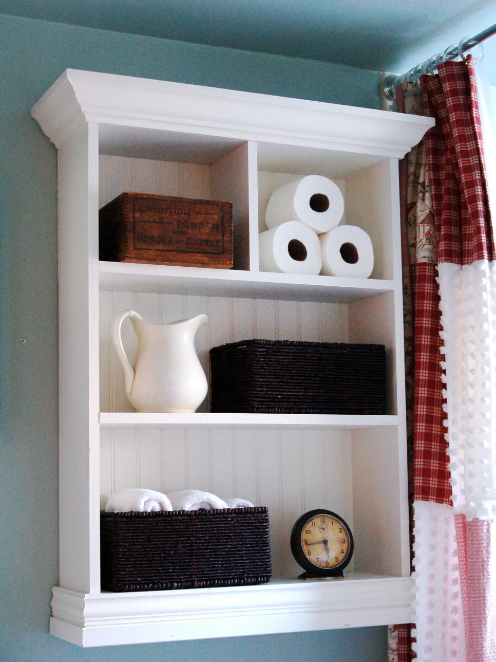 Compact 12 Clever Bathroom Storage Ideas | HGTV bathroom wall storage