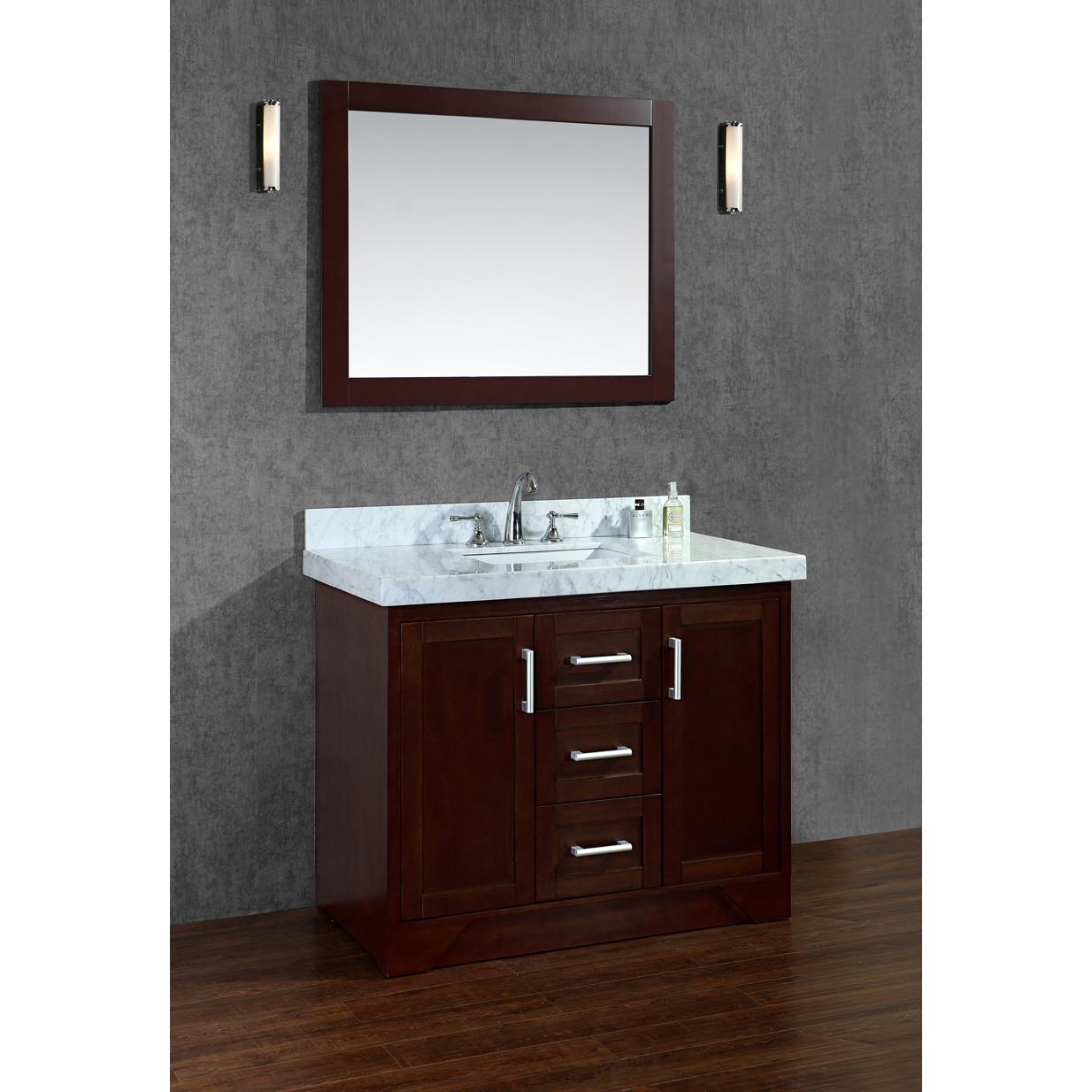 Compact Ariel Bath Ashbury 42 Single Bathroom Vanity Set with Mirror bathroom vanity sets