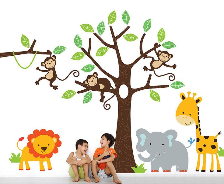 Compact Childrenu0027s Jungle Wall Stickers jungle wall stickers