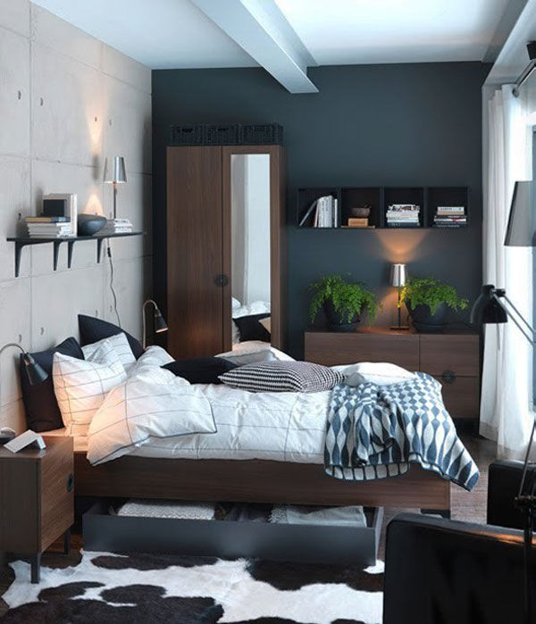 Compact Collect this idea photo of small bedroom design and decorating idea - modern bedroom designs for small rooms