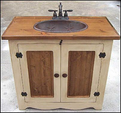 Compact Country Bathroom Vanities A