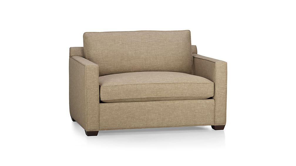 Compact ... Davis Twin Sleeper Sofa ... twin sleeper chair and a half