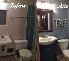 Compact diy bathroom renovation, bathroom ideas, painting, remodeling, This is a  Before and diy bathroom renovation