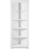 Compact Finley Home Redford Corner Bookcase White white corner bookcase