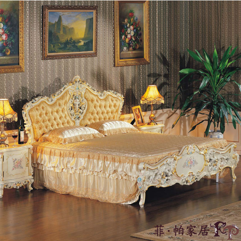 Compact French Provincial bedroom furniture -Rococo style home furniture rococo bedroom furniture