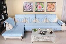 Compact Home Furniture Protector Cover Quilted Embroidery Sectional Sofa Couch  Slipcover sectional sofa covers