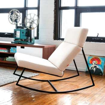 Compact Modern Rocking Chairs + Gliders modern living room furniture
