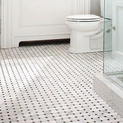 Compact Mosaic floor tiles for bathrooms
