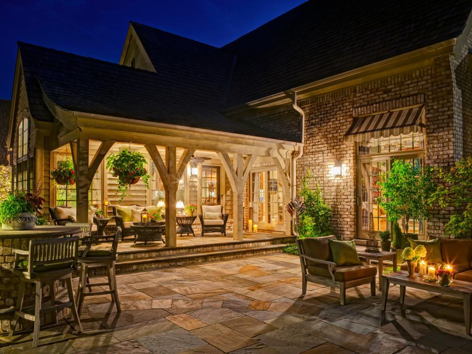 Compact Patio Ideas | HGTV ideas for backyard patios