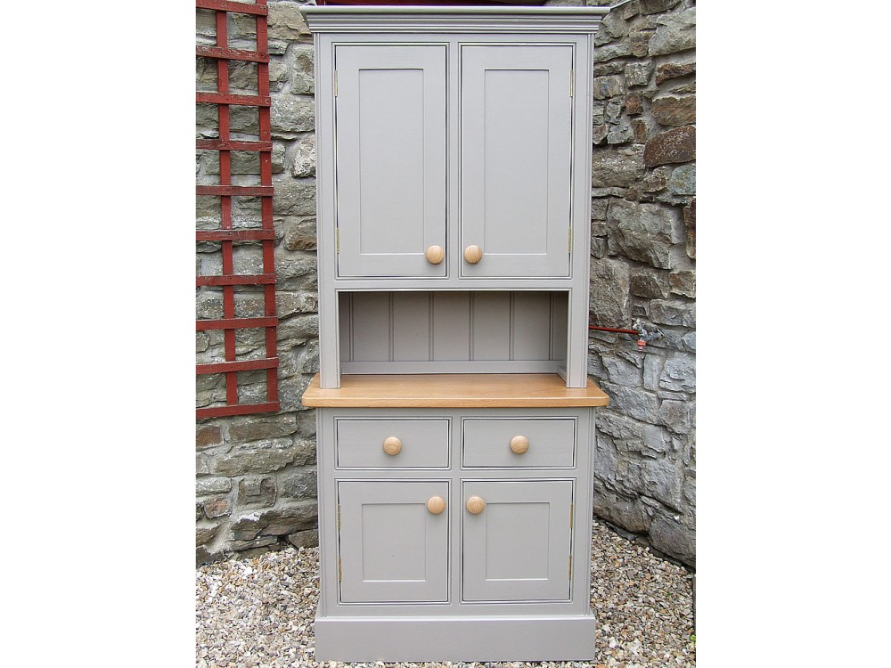 Compact Small Painted Welsh Dresser, Half Height Solid Door Top, W:1067mm H: small welsh dresser