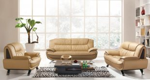 Contemporary 405 Leather Sofa Set modern sofa sets