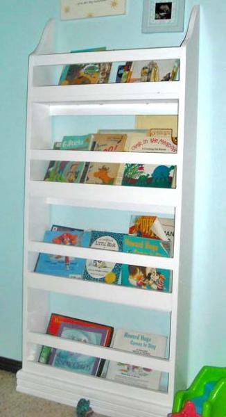 Contemporary Also, flat bookshelves take up less floor space, a bonus for often tiny white wall bookshelves