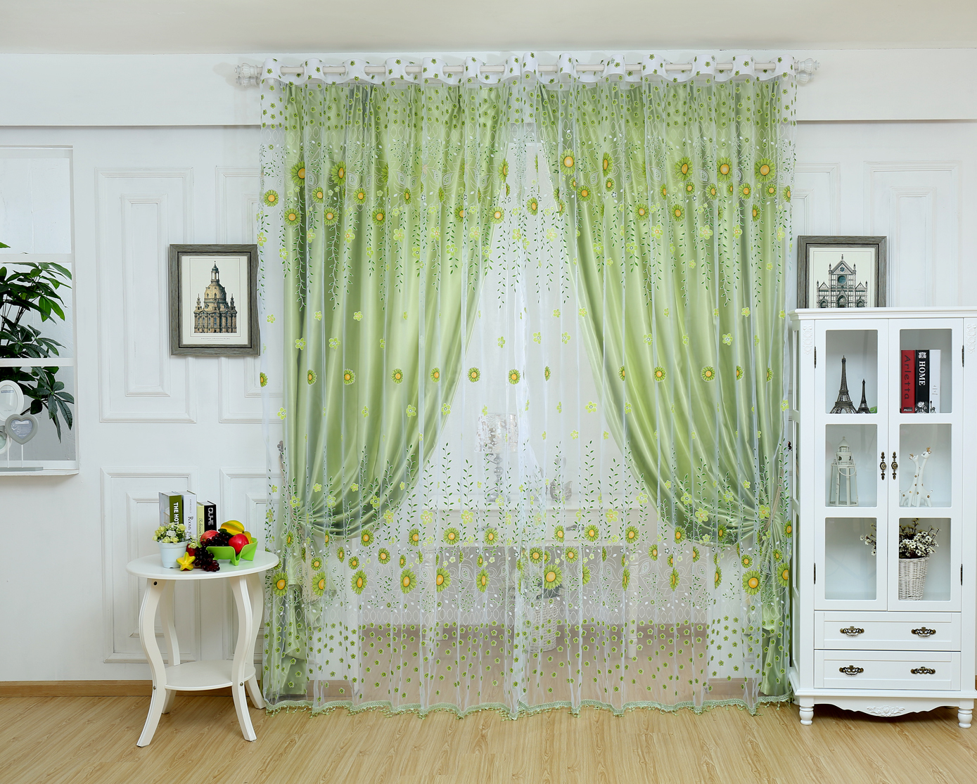 Contemporary Beautiful summer cool home decoration quality sheer curtain window  screening(China (Mainland)) cool window curtains