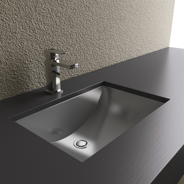 Contemporary Cantrio Koncepts MS-012 Steel Series Stainless Steel Bathroom Sink stainless steel bathroom sinks