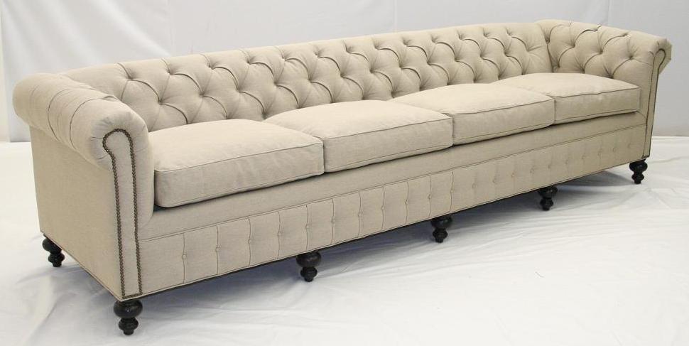 Contemporary Chesterfield Hudson Sofa Deluca linen 26 linen chesterfield sofa