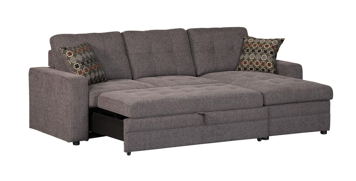 Contemporary Coaster Company | Gus Grey Small Sleeper Sectional Sofa | Free Shipping small sectional sleeper sofa