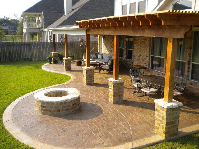 Contemporary Decorative Patios Houston, Katy, Cinco Ranch | Texas Custom Patios---Like ideas for backyard patios