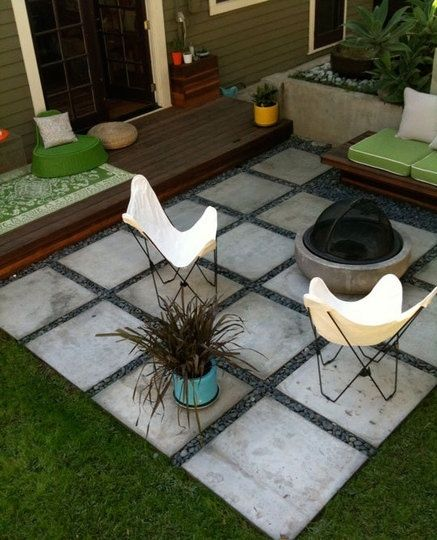 Contemporary Inexpensive patio idea! I hope so, gonna try something like this in backyard ideas on a budget patios