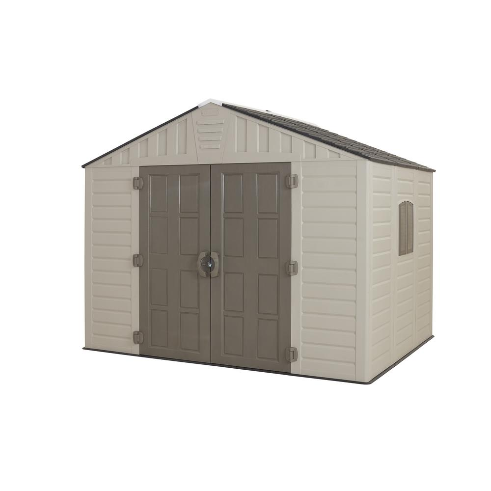 Contemporary Keter Stronghold Resin Storage Shed plastic outdoor storage sheds