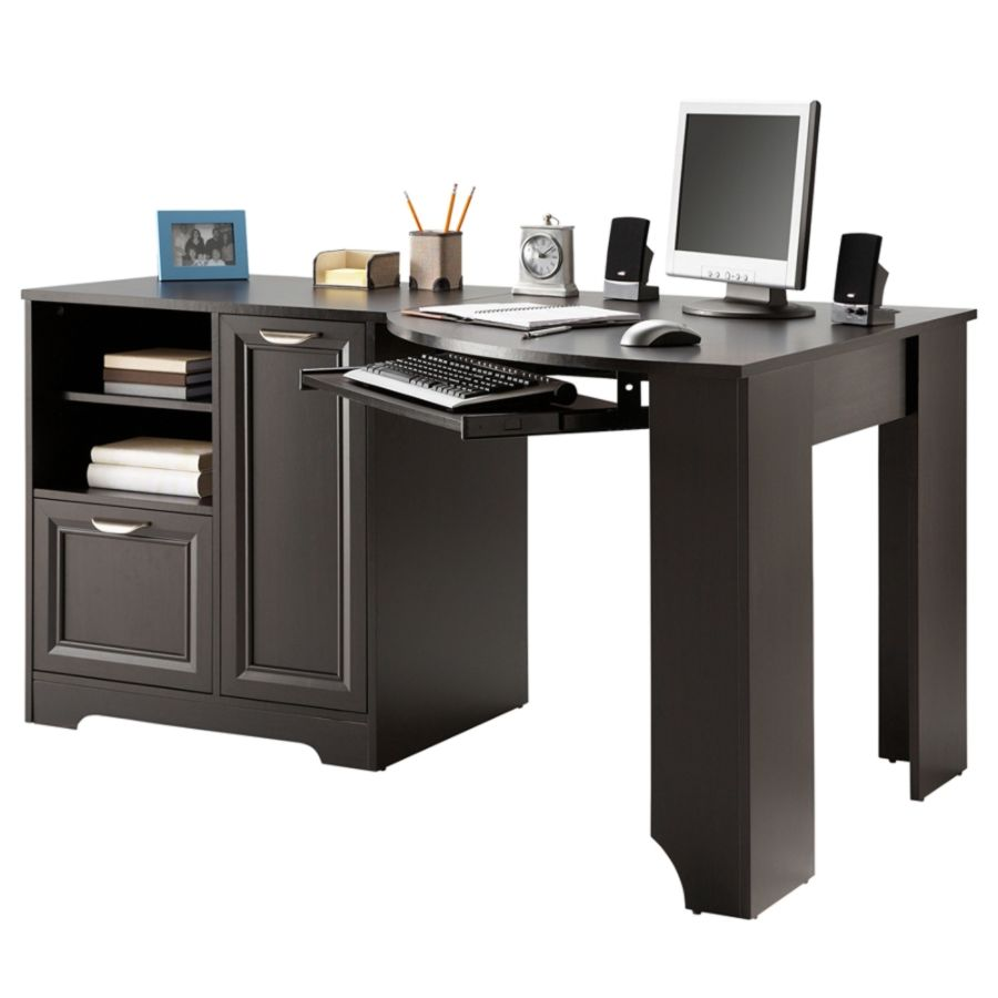 Contemporary Realspace Magellan Collection Corner Desk Espresso By Office Depot corner office desk