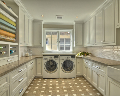 Contemporary SaveEmail white cabinets for laundry room