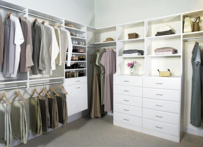 Contemporary wardrobe design open clothes rails Dresser storage space dressing room open wardrobe storage