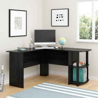 Cool Ameriwood Home Dakota L-shaped Desk with Bookshelves desk tables home office
