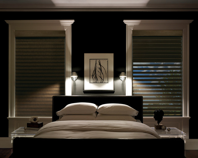 Cool Blackout Window Treatments contemporary-bedroom contemporary bedroom window treatments