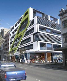 Cool Contemporary Pod Apartments Design Exterior Modern Apartments . apartment design exterior