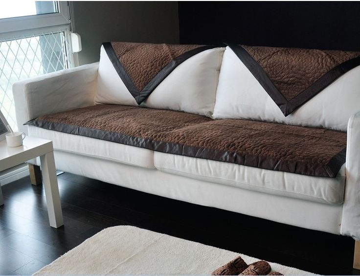 Cool fashion brown fabric couch sofa cover set blanket, sectional couch covers, leather sofa covers