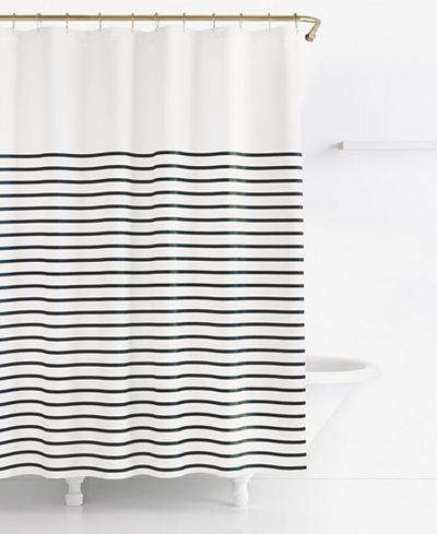 Cool Kate Spade New York Harbour Stripe Shower Curtain Black And White  Striped Shower Curtain