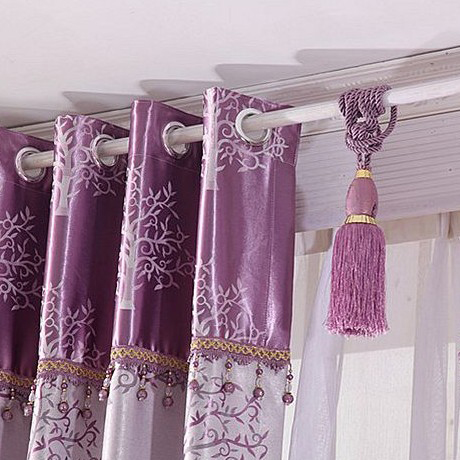 Cool ... Lilac Tree Patterns Printing Thermal and Energy Saving Curtains for  Bedroom lilac curtains for bedroom