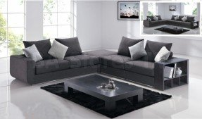 Cool Modern Gray Sectional Sofa modern gray sectional sofa : gray modern sectional - Sectionals, Sofas & Couches