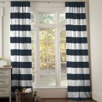Create a romantic ambience to your room with blue and white curtains