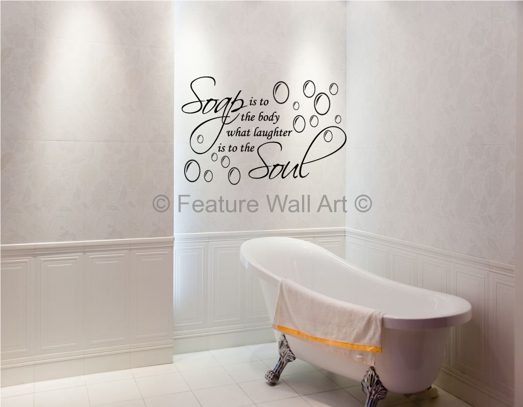 Enhance beauty of walls by wall decorations for Bathroom wall decoration ideas