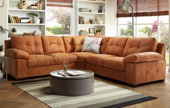 Modern Estate 3 Piece Corner Sofa Grand Outback ... corner leather sofa