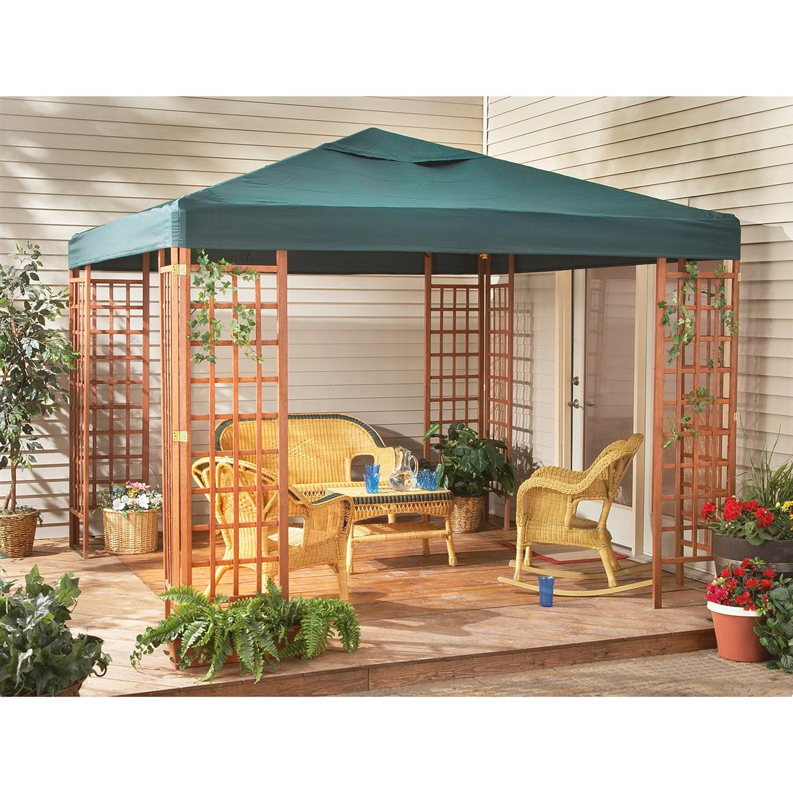 Cozy 10x10u0027 Wood Gazebo wooden patio gazebo