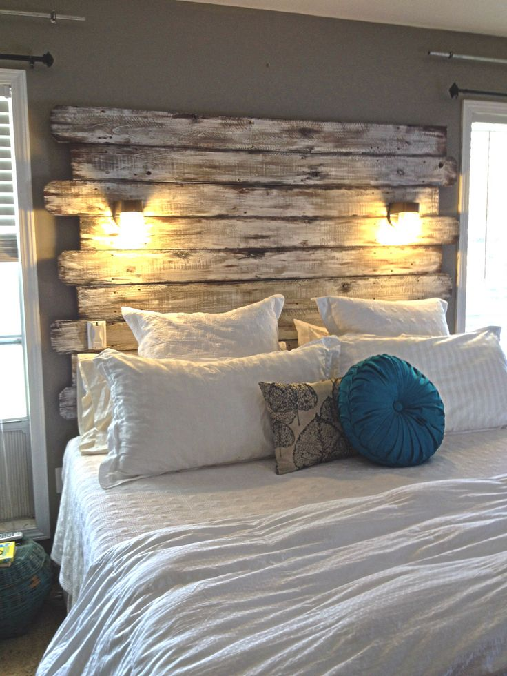 Cozy 11 Ways In Which You Can Style Up Your Bedroom For Free. diy wood headboard ideas