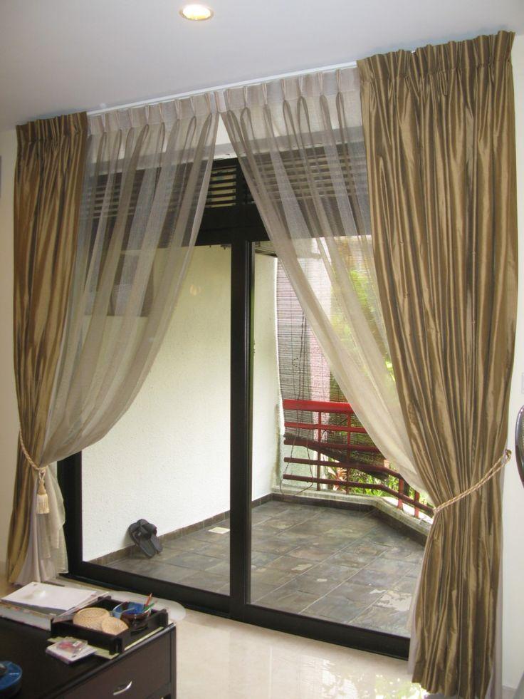 Cozy 25+ best ideas about Sliding Door Curtains on Pinterest | Sliding door curtains for sliding glass door