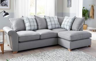 Cozy Arran Left Hand Facing Pillow Back Corner Deluxe Sofa Bed Arran corner sofa bed