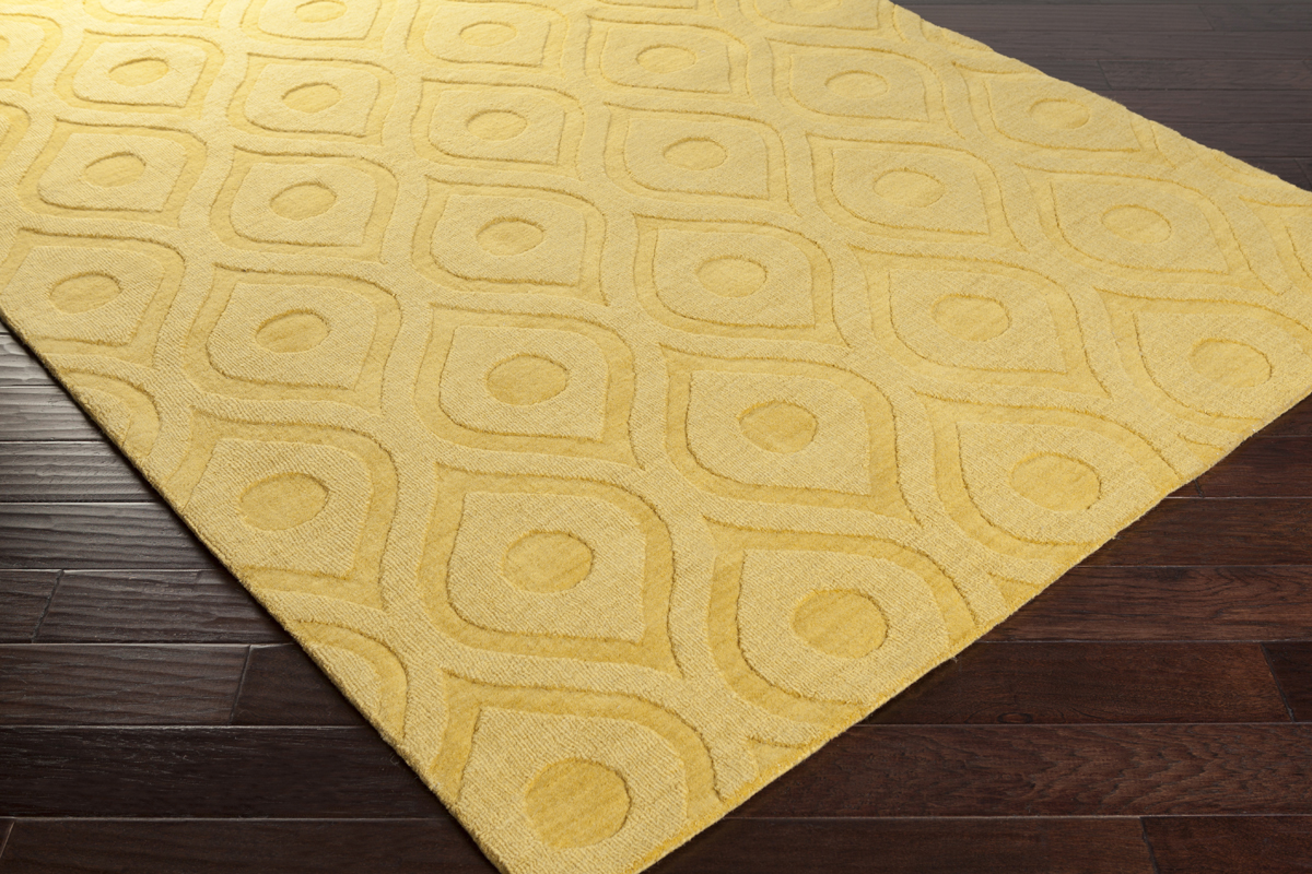 Cozy Artistic Weavers Central Park Zara AWHP4007 Yellow Area Rug yellow area rug