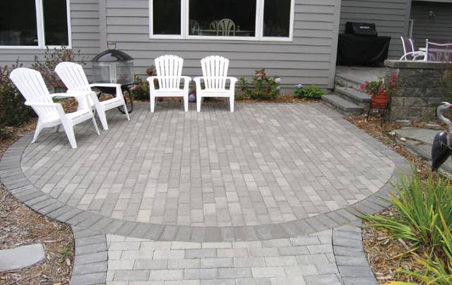 Cozy Brickstone Paver Patio patio paving stones