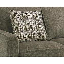 Calabria Graphite Grey Chenille Fabric Sofa Chenille Fabric Sofa