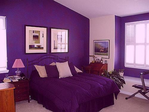 Cozy Dark Purple Room Ideas purple and pink bedroom paint ideas