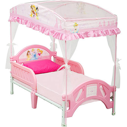 Cozy Disney Princess Toddler Bed with Canopy princess toddler bed
