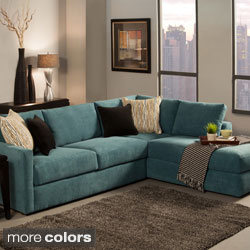 Cozy Furniture of America Faith Deluxe Contemporary Microfiber Fabric  Upholstered 2-piece Sectional microfiber sectional sofa