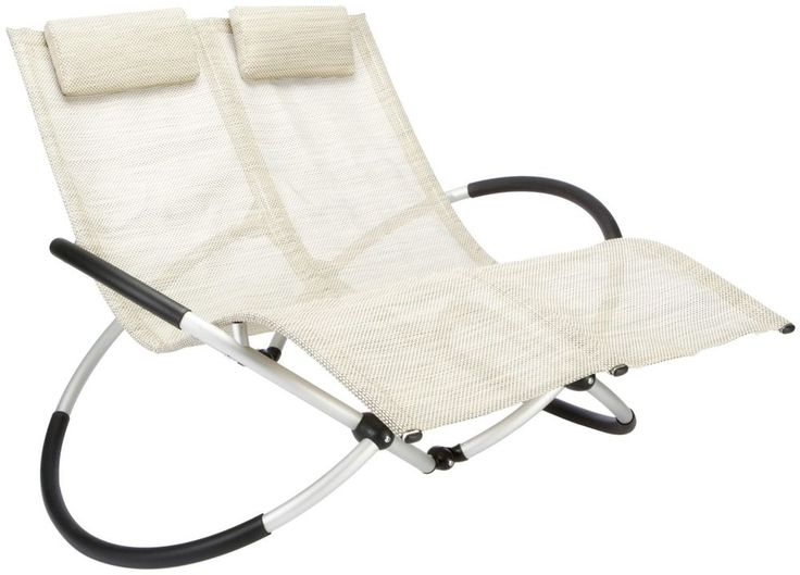 Cozy Garden Rocking Chair Double Sun Lounger Folding Patio Seat Recliner  Portable New garden sun loungers recliners